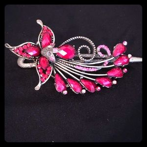 Red & Gold Vintage Hair Pin